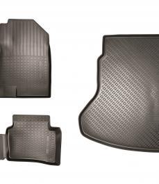 Килимки салону і багажного відсіку, комплект. Гумові, для комплектацій Classic, Comfort і Luxe.